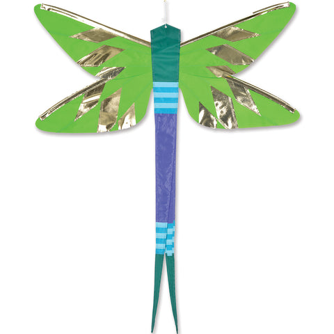 SoundWinds David Ti Damselfly Hanging Banner - Green