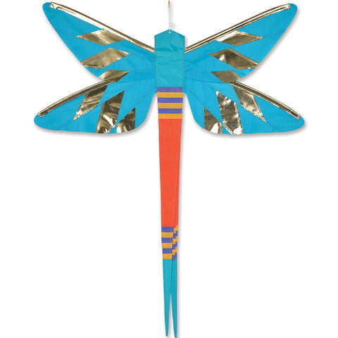 SoundWinds David Ti Damselfly Hanging Banner - Blue