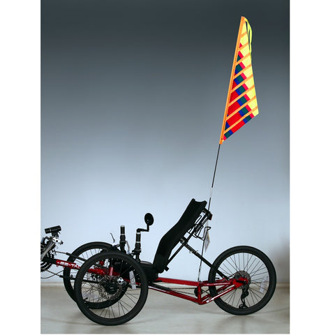 SoundWinds Sail Recumbent Bike Flag - Yellow