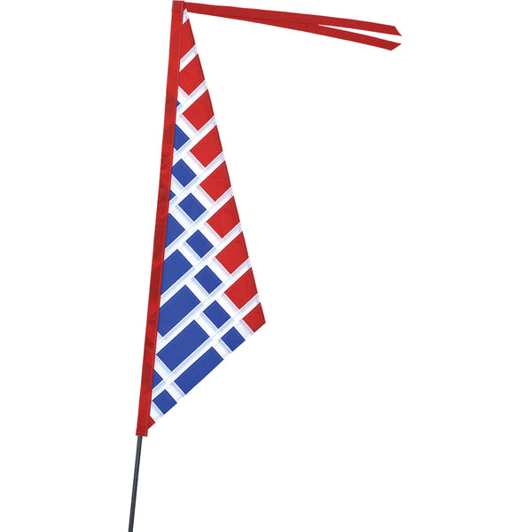 SoundWinds Sail Recumbent Bike Flag - Red & Blue