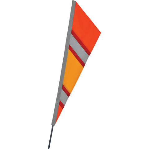 SoundWinds Reflective Fanion Recumbent Bike Flag - Orange