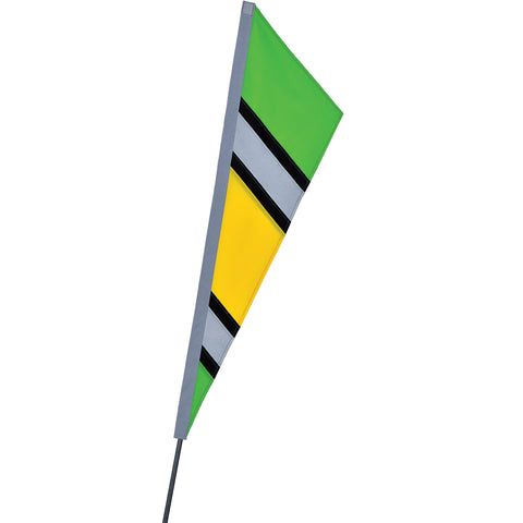 SoundWinds Reflective Fanion Recumbent Bike Flag - Green