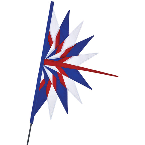 SoundWinds David Ti Fan Bike Flag - Patriotic