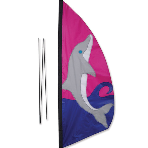 3.5 ft. Recumbent Bike Feather Banner - Dolphin