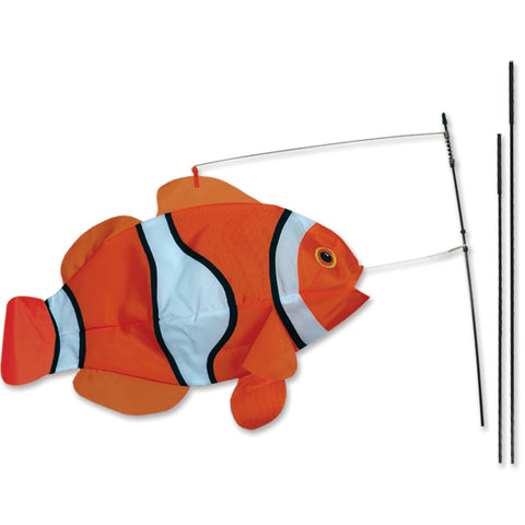 Swimming Fish Recumbent Bike Flag - Clownfish