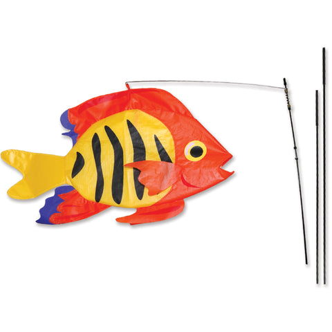Swimming Fish Recumbent Bike Flag - Flame Fish