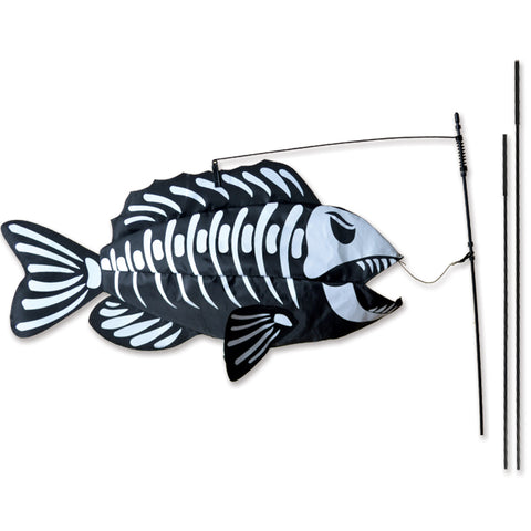 Swimming Fish Recumbent Bike Flag - Fish Bones