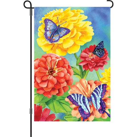 12 in. Flag - Butterfly Garden