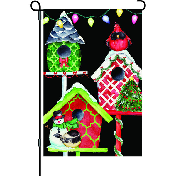 12 in. Flag - Christmas Birdhouses