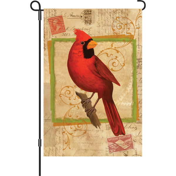 12 in. Flag - Happy Cardinal
