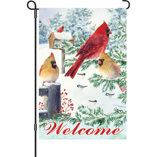 12 in. Flag - Snow Flurry Cardinals