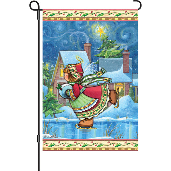 12 in. Flag - Winter Wonders Angel