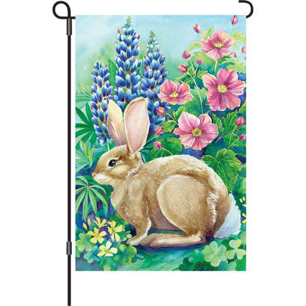 12 in. Flag - Garden Rabbit