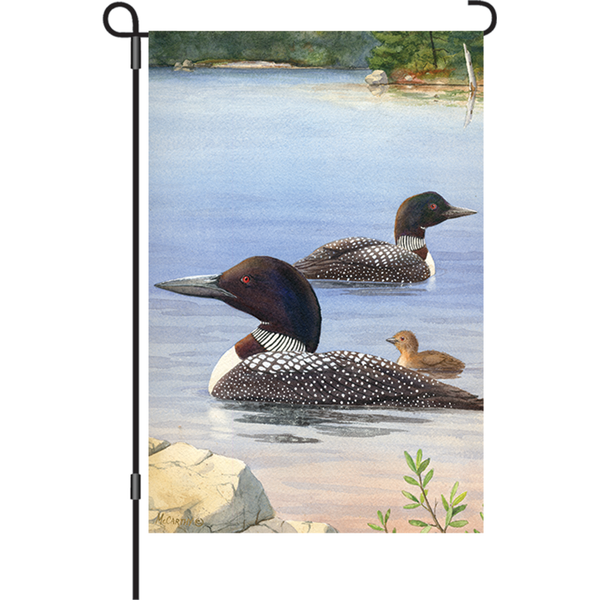 12 in. Flag - Loon Family