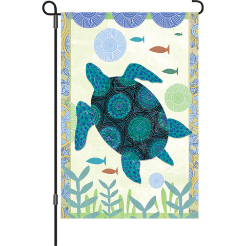 12 in. Flag - Blue Turtle