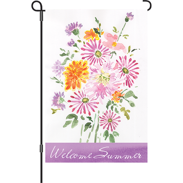 12 in. Flag - Summer Bouquet