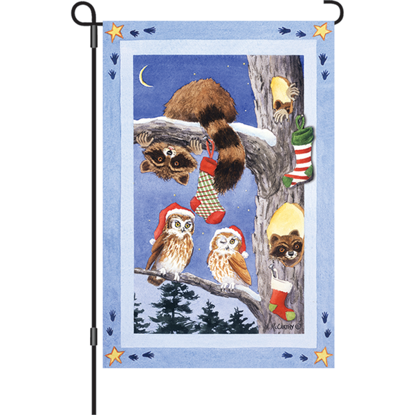 12 in. Flag - Woodland Stocking