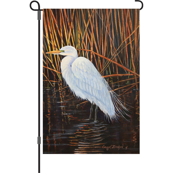 12 in. Flag - Egret