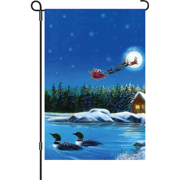 12 in. Flag - Christmas Loons