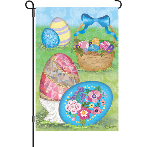 12 in. Flag - Elegant Easter Eggs