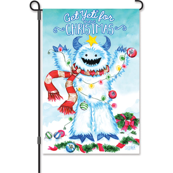 12 in. Flag - Yeti For Christmas