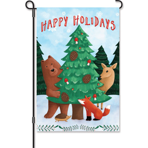 12 in. Flag - Woodland Christmas