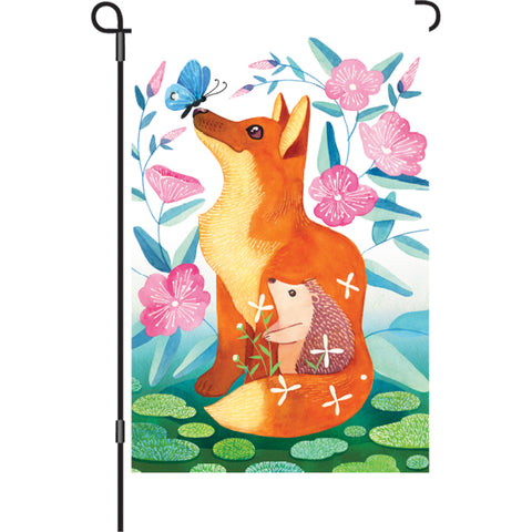 12 in. Flag - Fox & Hedgehog