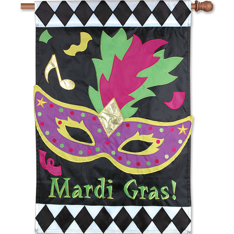 28 in. Flag - Mardi Gras