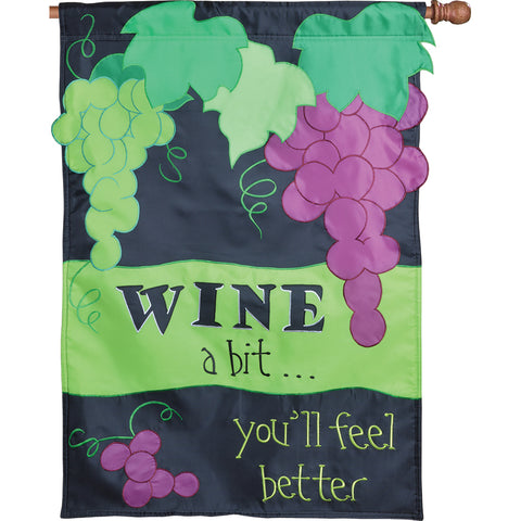 Applique Flag - Wine a Bit