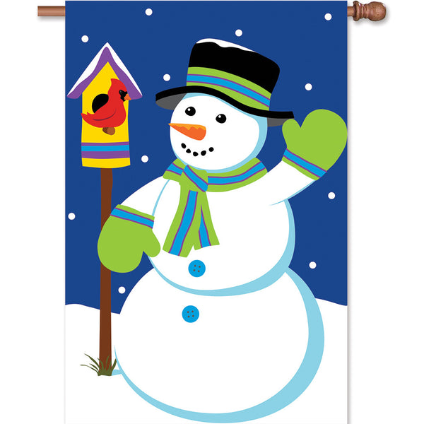 Applique Flag - Snowman
