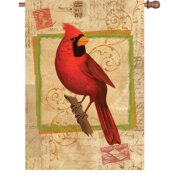 28 in. Flag - Happy Cardinal