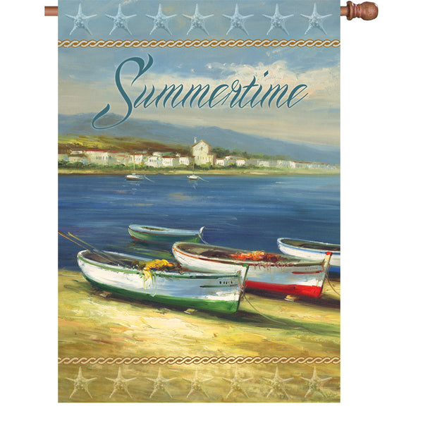 28 in. Flag - Summertime Boats