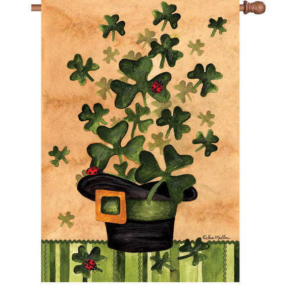 28 in. Flag - Shamrock Burst