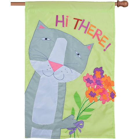 Applique Flag - Hi There!