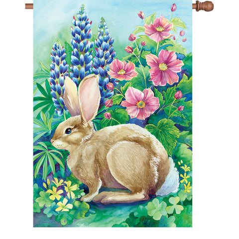 28 in. Flag - Garden Rabbit