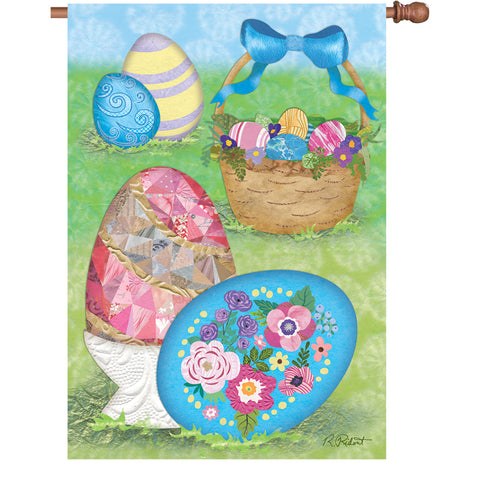 28 in. Flag - Elegant Easter Eggs