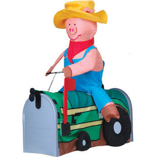Mailbox Cover - Pig On Tractor