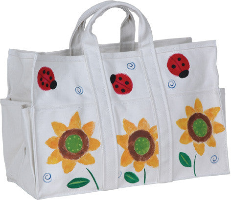 Canvas Tote Bag & Gloves - Sunflowers