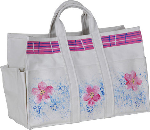 Canvas Tote Bag & Gloves - Cherry