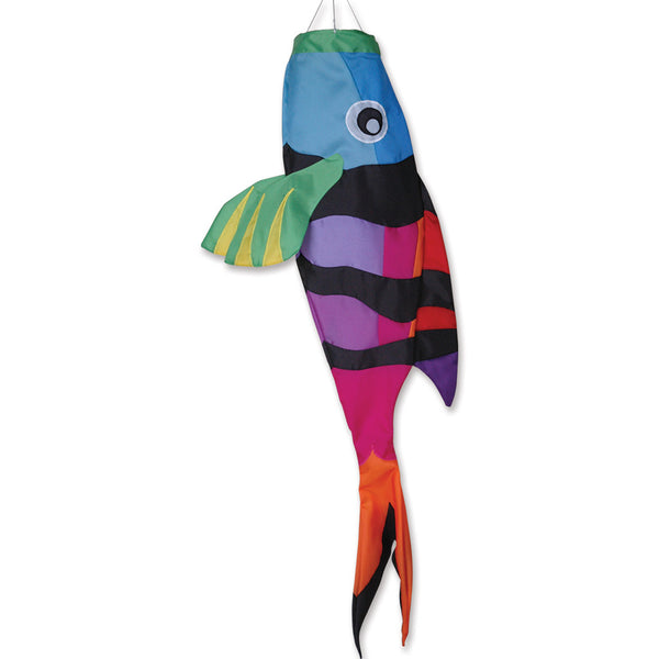 52 in. Rainbow Sergeant Major Fish Windsock