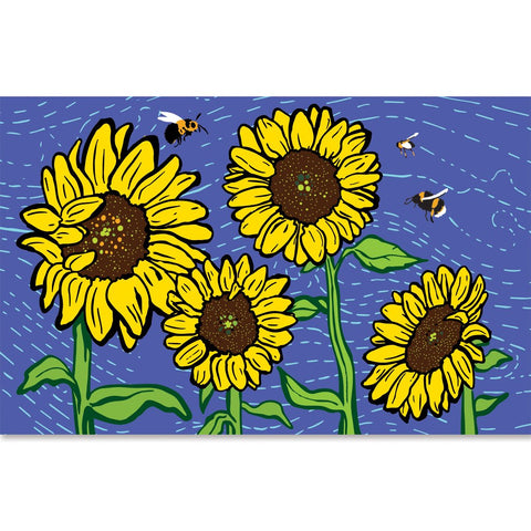 60 in. Windsock - Bees and Sunflower