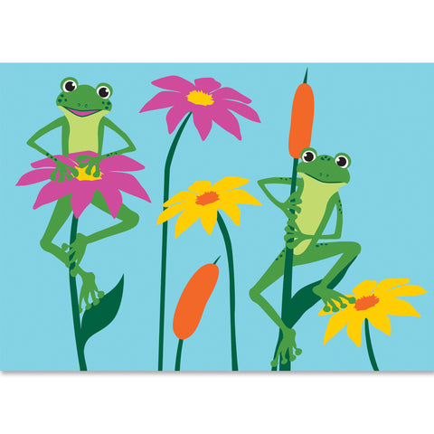 Applique Windsock - Frogs