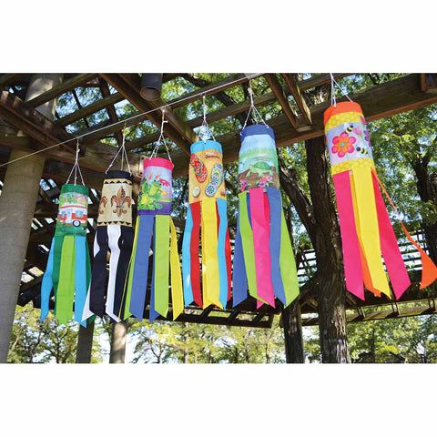 28 in. Windsock - Garden Frogs