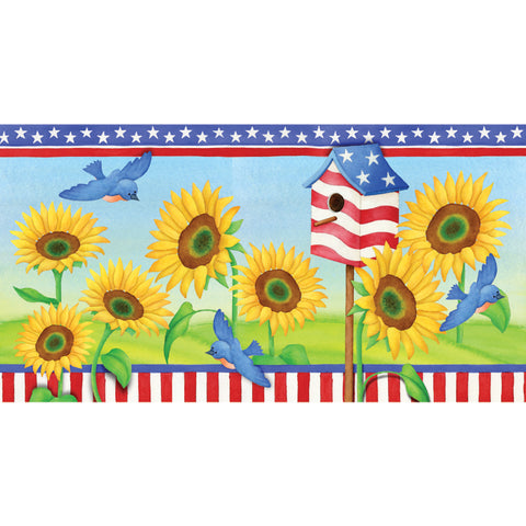 28 in. Windsock - Patriotic Sunflowers