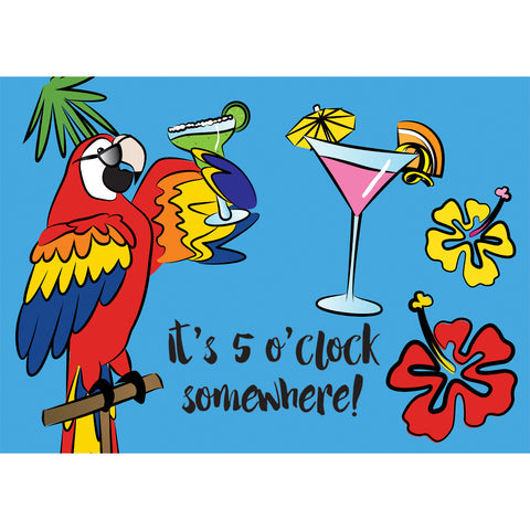 Applique Windsock - 5 O'Clock Somewhere