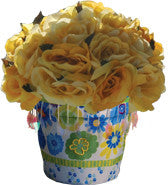 Flower Pot Cover - Garden Blooms