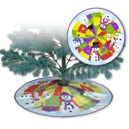 Christmas Tree Skirt - Welcome Snowmen
