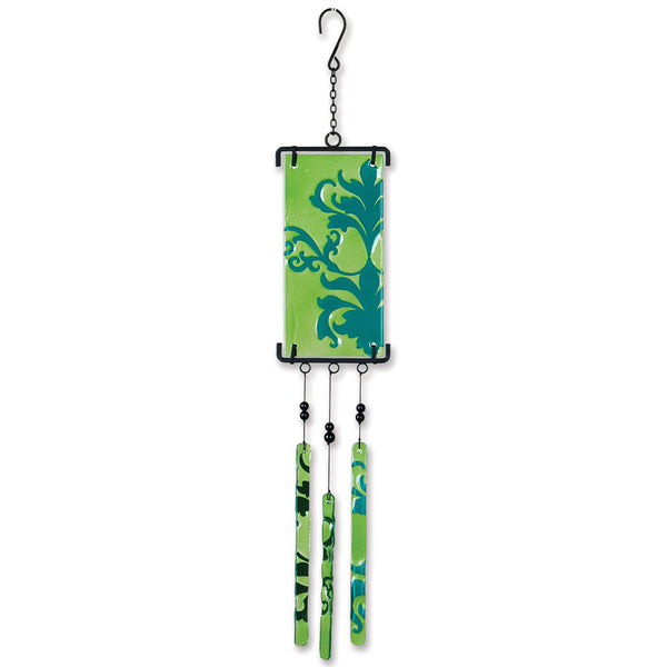 Silhouette Glass Wind Chime - Brocade