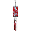 Silhouette Glass Wind Chime - Coral