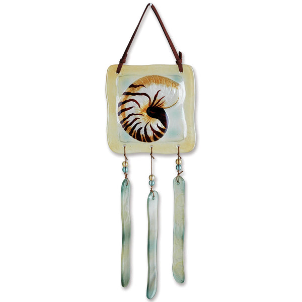 Glass Terra Wind Chime - Nautilus